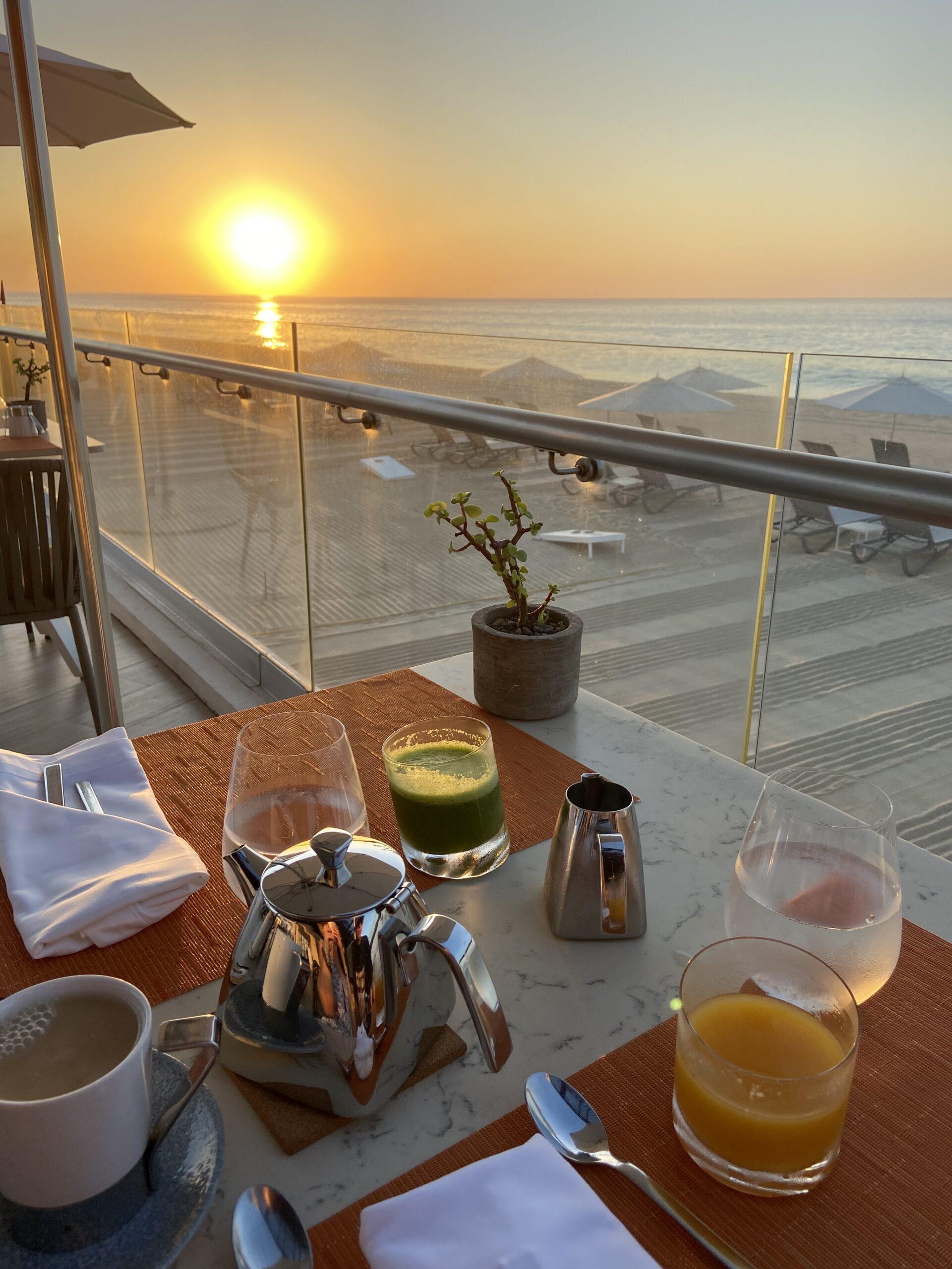 sunrise breakfast beach le blanc